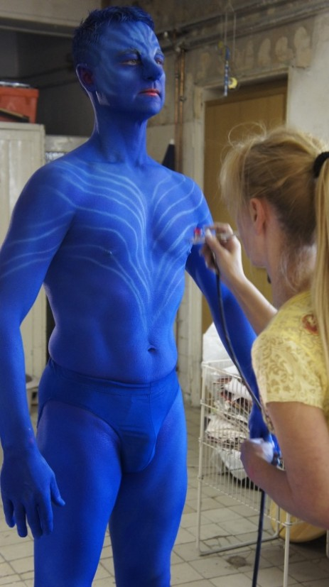 Bodypainting bei Antenne Bayern